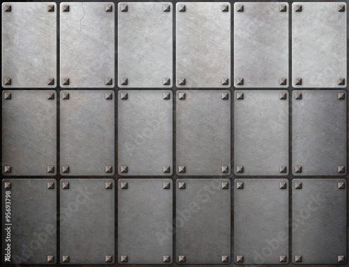 tiled-metal-background