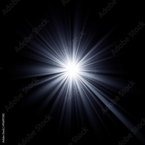 Shining star bursting with beams. Canvas Print
