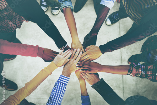 Group of Diverse Multiethnic People Teamwork Concept Canvas Print