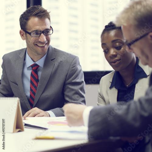 Fotografía  Business Team Corporate Organization Meeting Concept