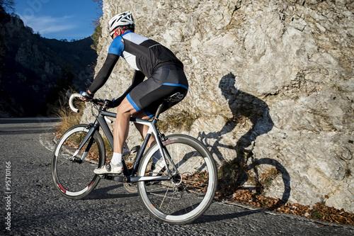 Foto op Plexiglas Fietsen Ciclista