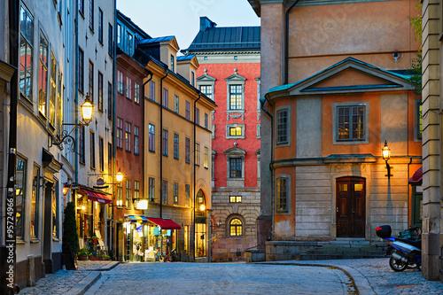 Fotografie, Tablou Gamla Stan in Stockholm