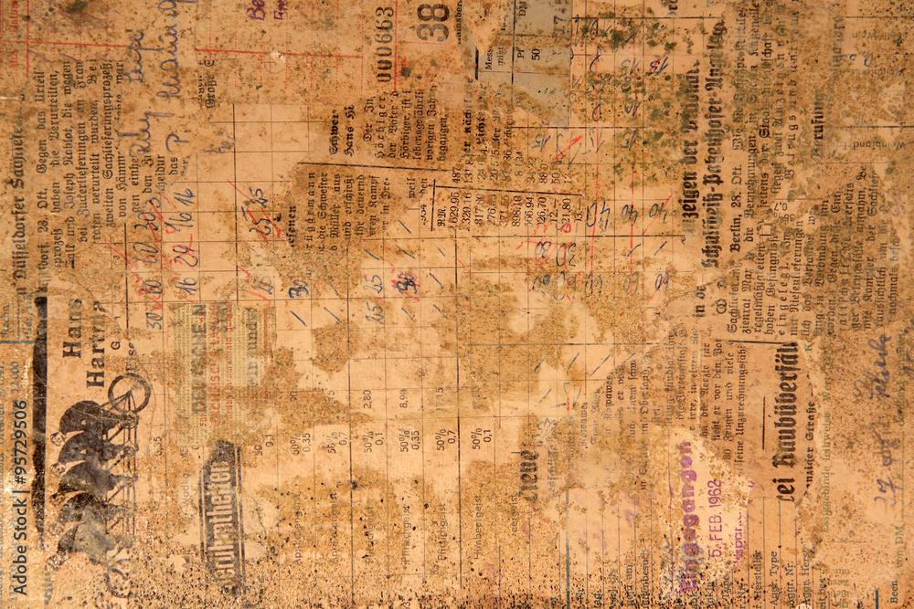 Fototapety, obrazy: Hintergrund aus altem Papier und Zeitung
