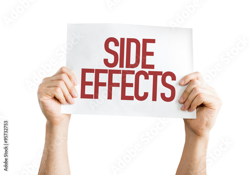 Fotografie, Obraz  Side Effects placard isolated on white