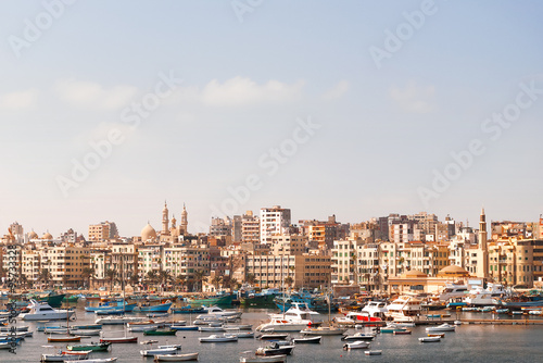 Photo Panorama view of Alexandria, Egypt.