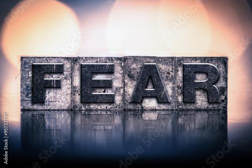 Photo Fear Concept Vintage Letterpress Type