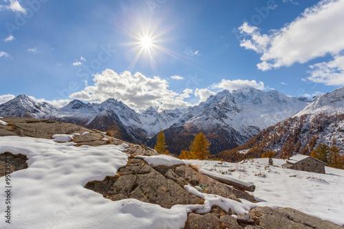 Fototapeta  Valmalenco (IT) - Chiareggio - Alpe dell'Oro