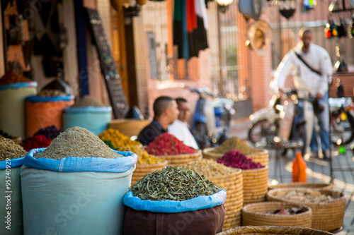 Moroccan herbs alley in Marrakesh's Medina