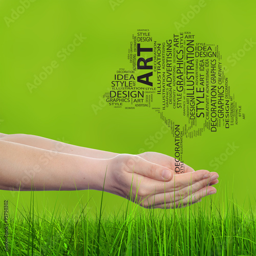Conceptual Art Design Tree Word Cloud Buy This Stock