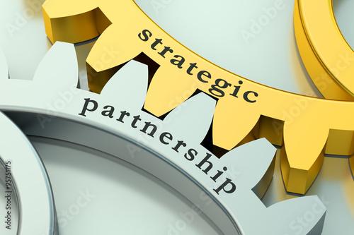 Fotografia  Strategic Partnership concept on the gearwheels