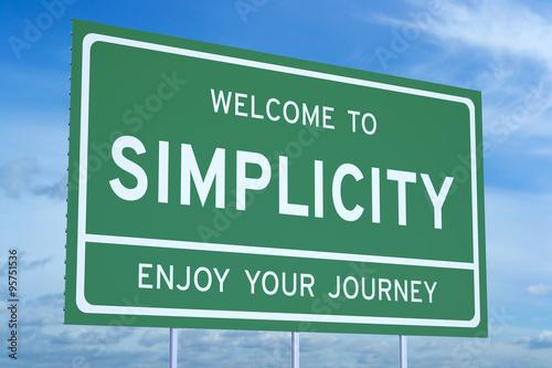 Obraz Welcome to Simplicity concept - fototapety do salonu