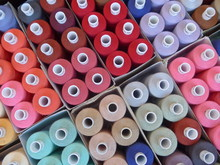 Small Spools Of Colored Yarn -...