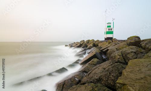 South pier Ijmmuiden in Netherland Canvas-taulu