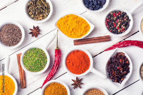 Printed kitchen splashbacks Spices Spices and herbs