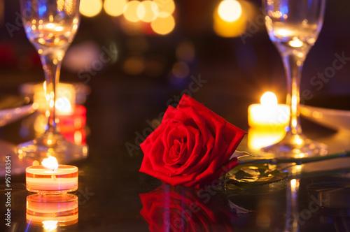 Romantic date setting.