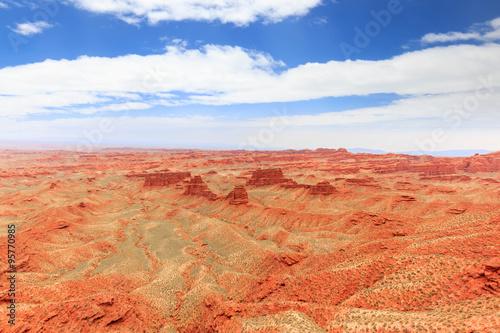 Foto op Canvas Koraal landscape of red sandstone