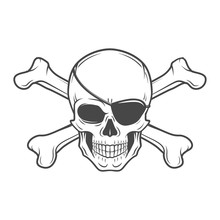 Jolly Roger With Eyepatch And ...