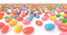 Candy, Colorful Jelly Beans Ab...