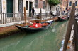 Gondola on water in canal in Venice, Italy