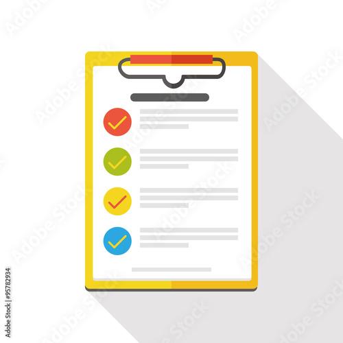 Fotografie, Obraz  shopping list flat icon