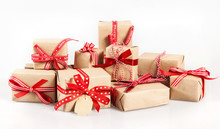 Large Stack Of Decorative Christmas Gifts