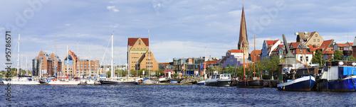 Fotomural Stadtpanorama von Rostock