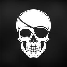 Human Evil Skull Vector. Jolly...