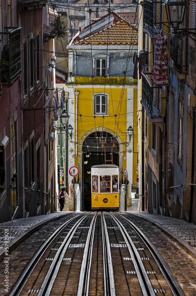 Photo  The Bica Funicular - Lisbon, Portuga