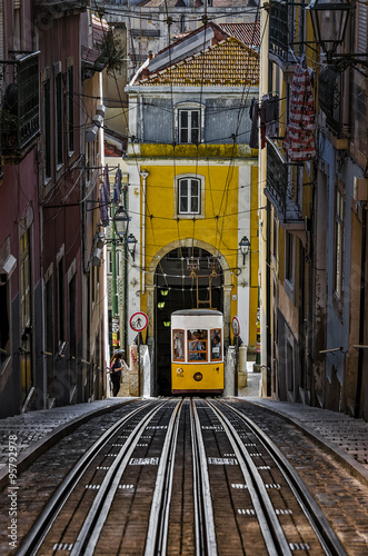 The Bica Funicular - Lisbon, Portuga Canvas Print