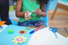 Happy Kids Doing Arts And Craf...