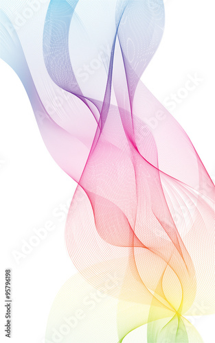 Photo  colorful light waves line bright abstract pattern illustration