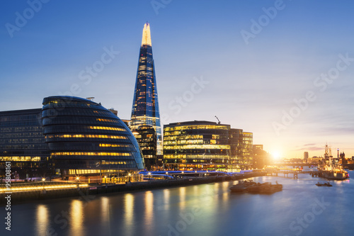 View of london skyline Canvas Print