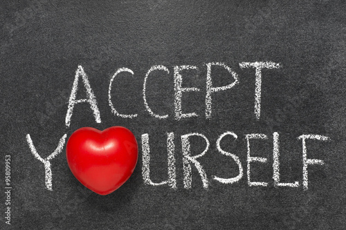 accept yourself chb Canvas Print