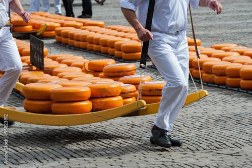 Fotografie, Obraz  Gouda cheese market, Holland