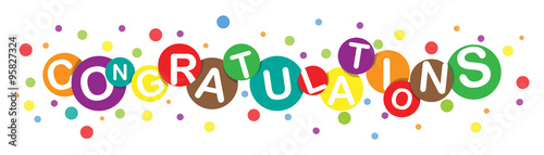 Colorful Congratulations Letters Vector