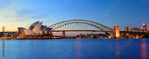Photo sur Aluminium Sydney Opera & Panorama