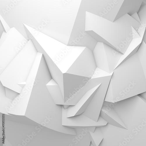 abstrakcjonistyczna-biala-cyfrowa-3-d-chaotyczna-wieloboczna-powierzchnia