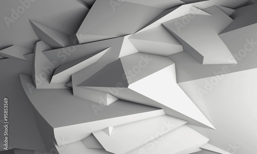 Fototapeta trójwymiarowy wzór z ostrymi formami