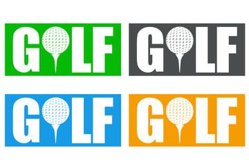Panel Szklany Golf Icono plano GOLF en varios colores #2