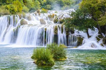 Fototapeta Waterfalls in Krka National Park, Croatia