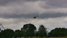 A Military Police Helicopter