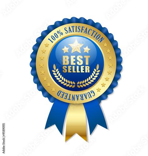 Fotografía  Best seller rosette on white background