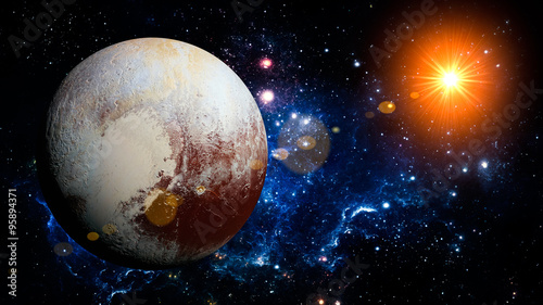 Foto Pluto Planet Solar System space isolated