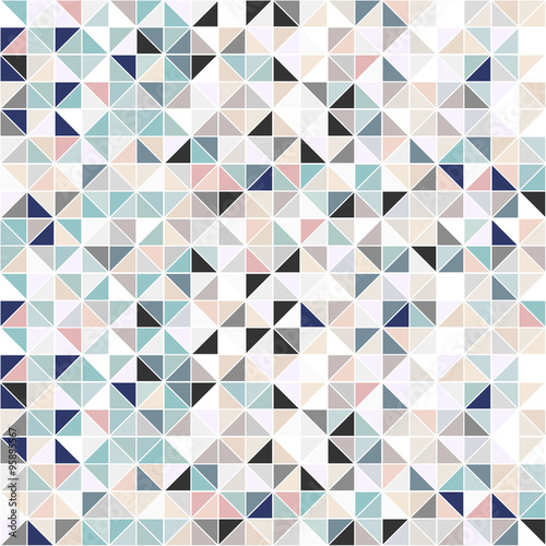 Naklejka dekoracyjna Geometric mosaic background - seamless.