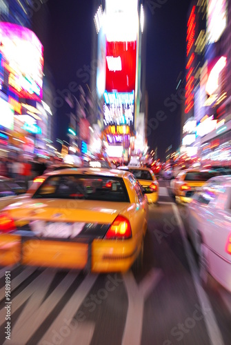 Papiers peints New York TAXI NEW YORK CITY TIMES SQUARE