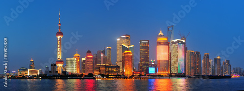 Shanghai at night Wallpaper Mural