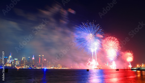 New York City fireworks Wallpaper Mural
