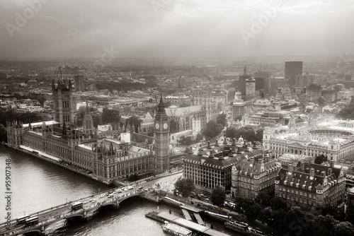 Fototapeta Westminster aerial obraz na płótnie