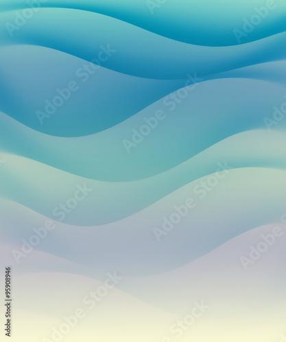Fototapety, obrazy: blue water waves
