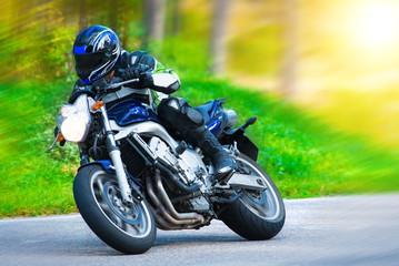 FototapetaDynamic motorbike racing
